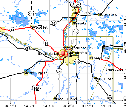 North Mankato, MN map