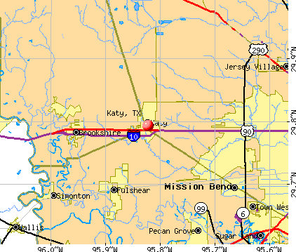 Katy, TX map