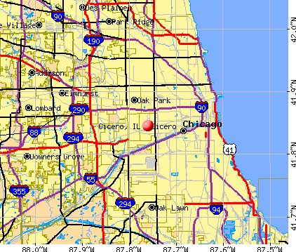 Cicero, IL map