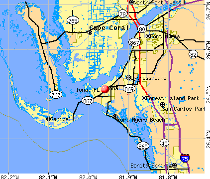 Iona, FL map