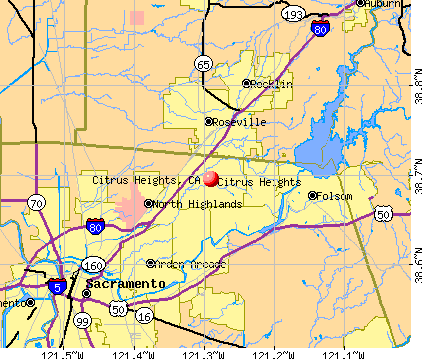 Citrus Heights, CA map