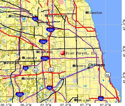 River Forest, IL map