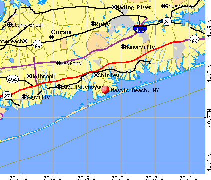 Mastic Beach, NY map