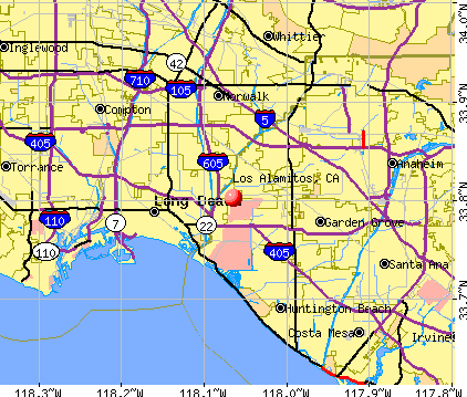 Los Alamitos, CA map