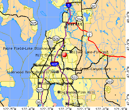 Mill Creek, WA map