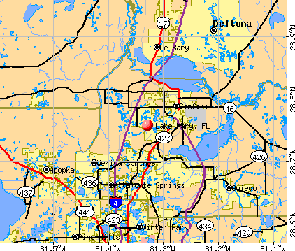 Lake Mary, FL map