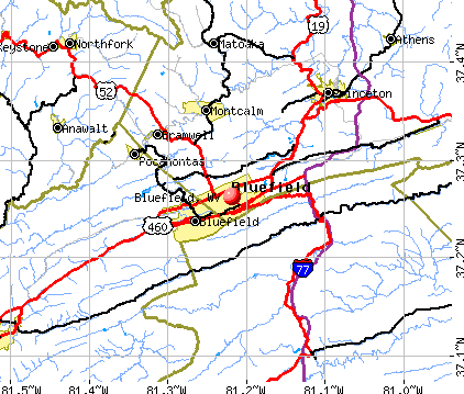 Bluefield, WV map