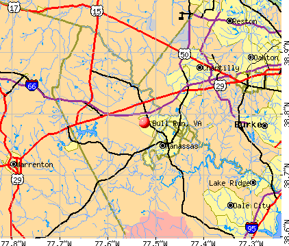 Bull Run, VA map