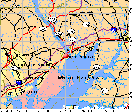 Havre de Grace, MD map