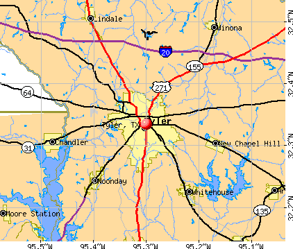 Tyler, TX map