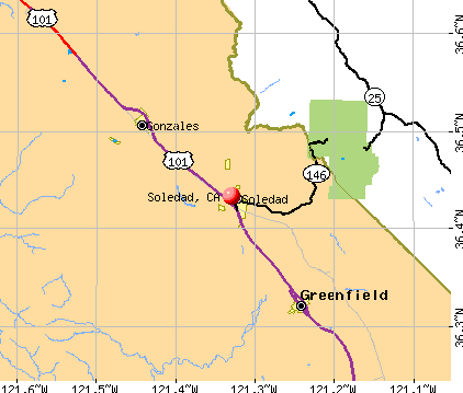 Soledad, CA map