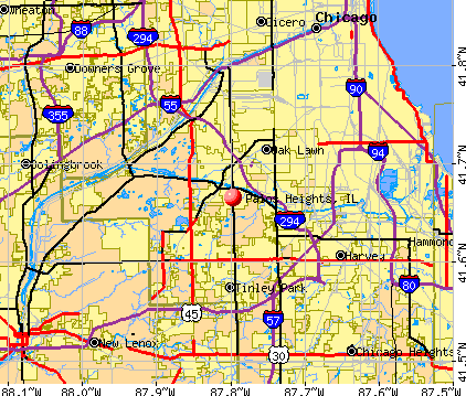 Palos Heights, IL map