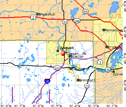 Cloquet, MN map