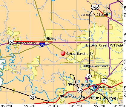 Cinco Ranch, TX map