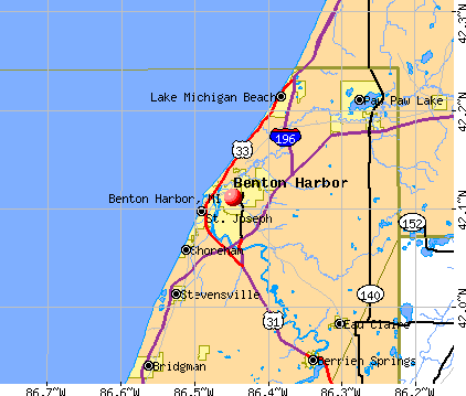 Benton Harbor, MI map