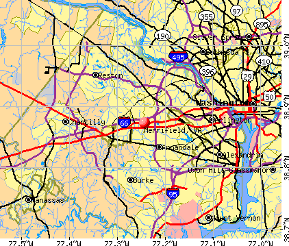Merrifield, VA map