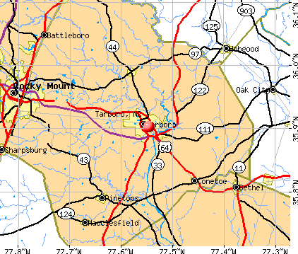 Tarboro, NC map
