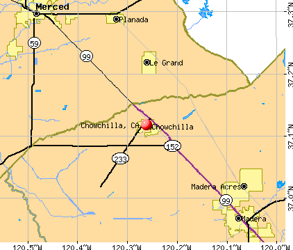 Chowchilla, CA map