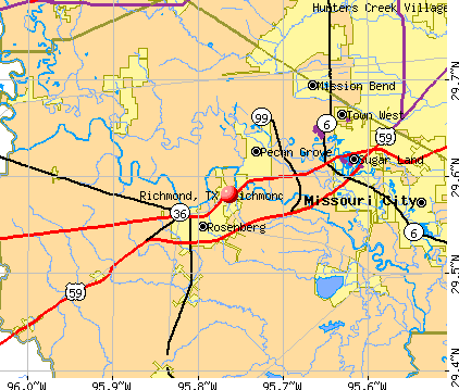 Richmond, TX map
