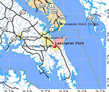Lexington Park, MD map