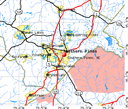 Southern Pines, NC map
