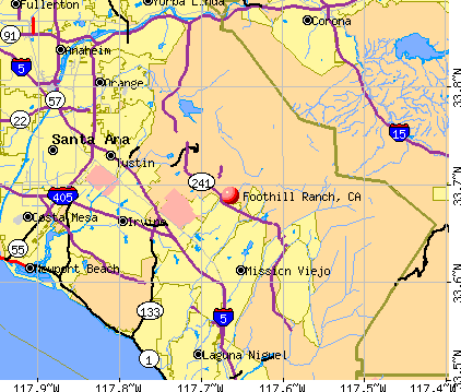 Foothill Ranch, CA map