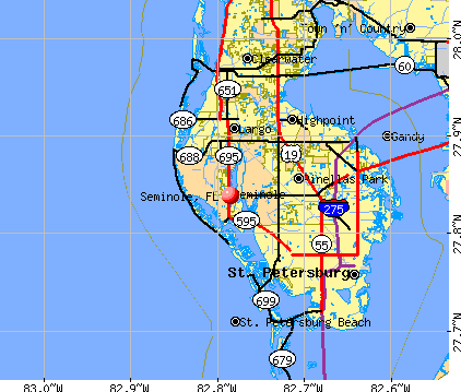 Seminole, FL map