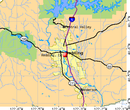 Redding, CA map