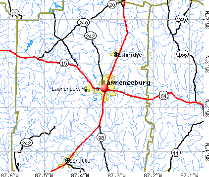 Lawrenceburg, TN map