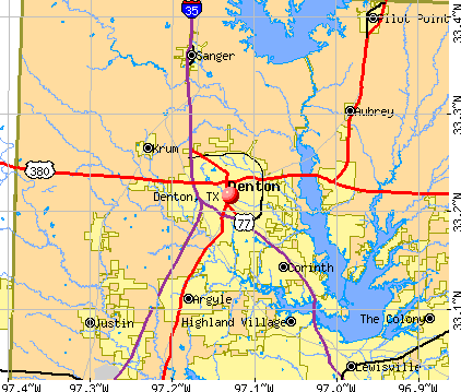 Denton, TX map