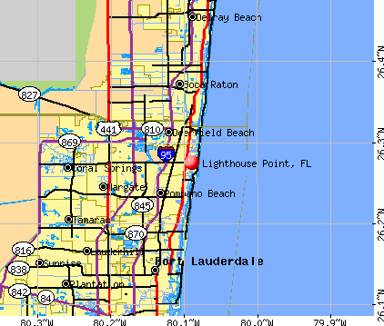 Lighthouse Point, FL map