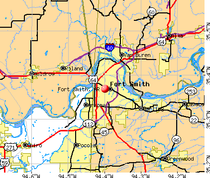 Fort Smith, AR map