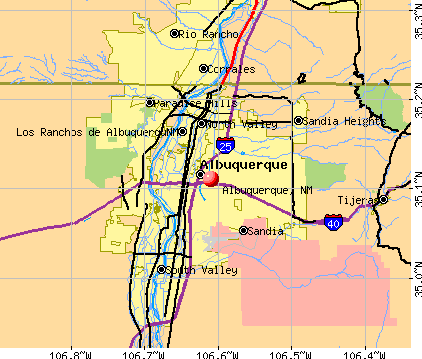 Albuquerque, NM map