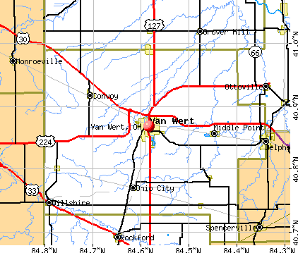 Van Wert, OH map