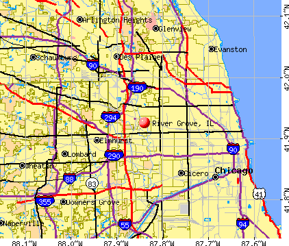 River Grove, IL map