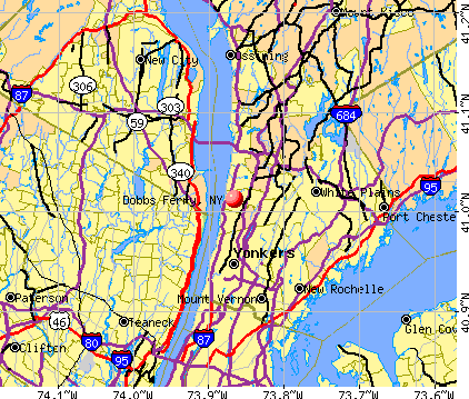 Dobbs Ferry, NY map