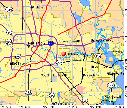 Galena Park, TX map