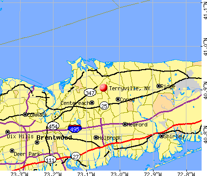 Terryville, NY map