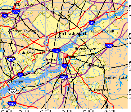 Camden, NJ map