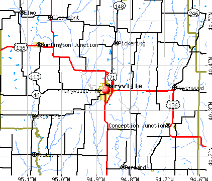 Maryville, MO map