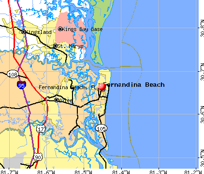 Fernandina Beach, FL map