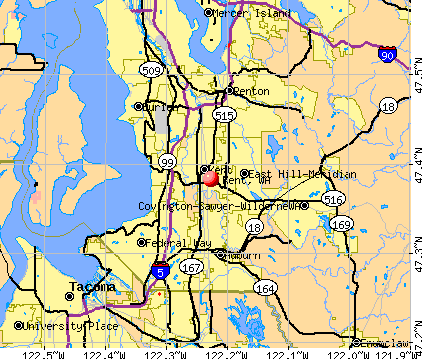 Kent, WA map