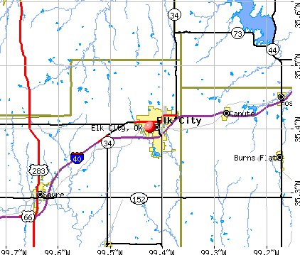Elk City, OK map