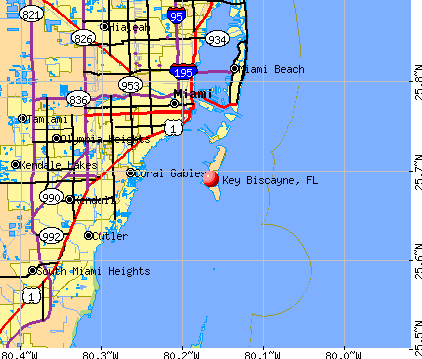 Key Biscayne, FL map