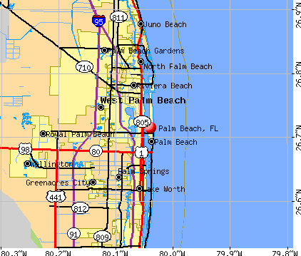 Palm Beach, FL map