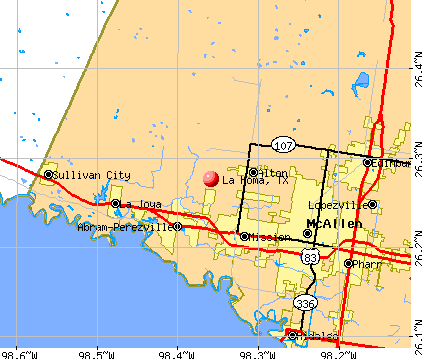 La Homa, TX map