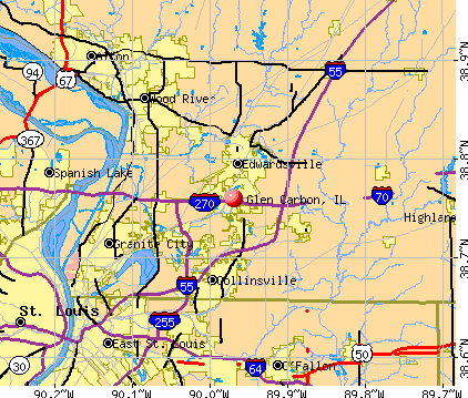 Glen Carbon, IL map