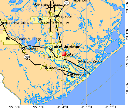 Clute, TX map