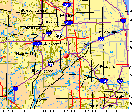 Burr Ridge, IL map