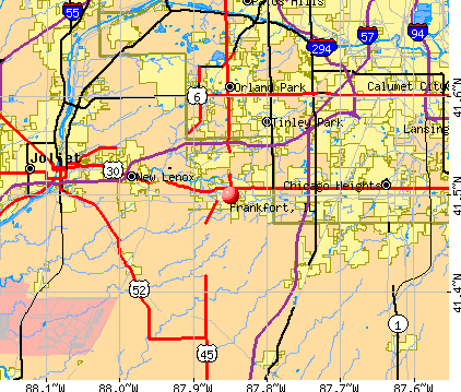Frankfort, IL map